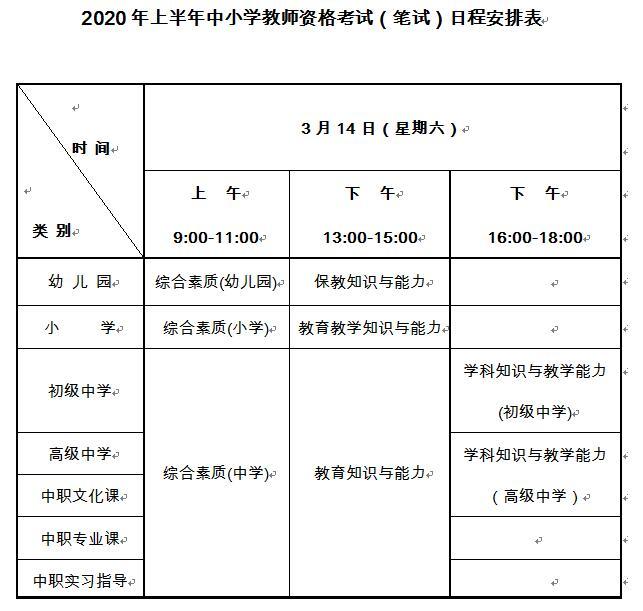 2020上半年吉林教师资格证笔试