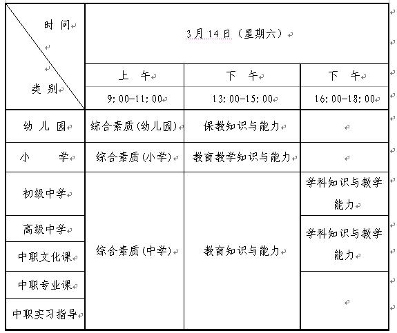 2020上半年辽宁教师资格证笔试