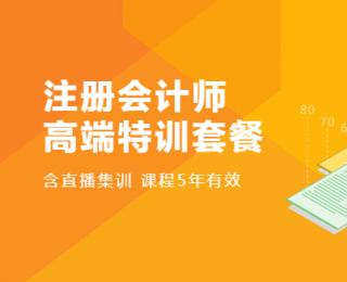 2020年环球网校注册会计师高端特训套餐