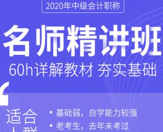 20年名师精讲班-环球网校中级会计职称ope体育网站