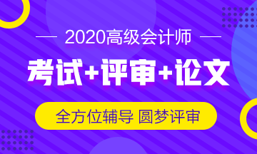 20年ope体育网站评审论文课程-中华会计网高级会计师辅导方案